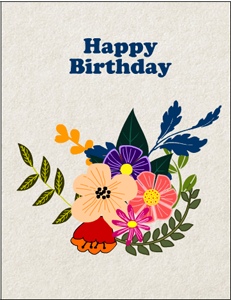 Happy Birthday Card featuring Fox, Hedgehog and Owl