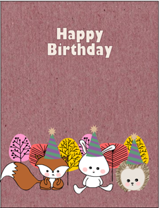 Cute Woodland Birthday Card Printable