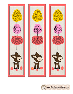 Free Printable Woodland Animals Bookmarks