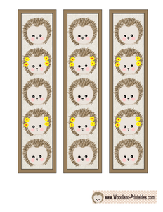 Cute Bookmarks featuring Hedgehogs