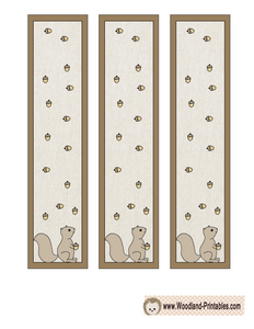 Woodland Bookmarks with Squirrel and Acorns