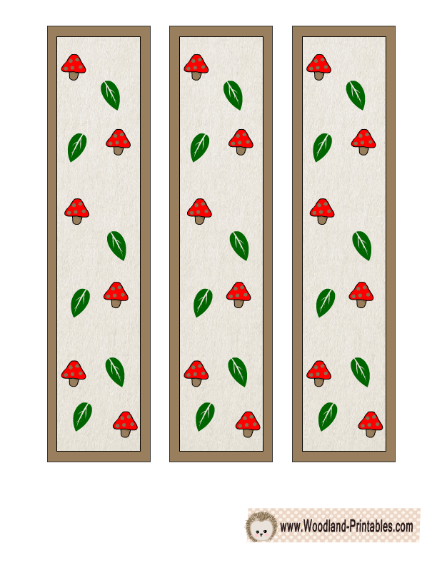 graphic relating to Cute Printable Bookmarks titled Free of charge Printable Woodland Pets Bookmarks