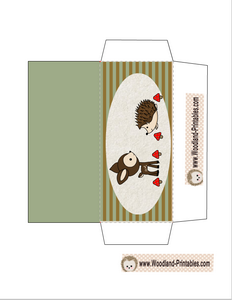 Woodland Animals Party Candy Wrapper