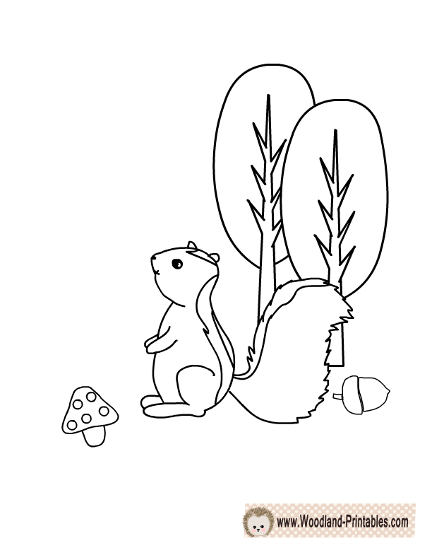 free printable skunk coloring page