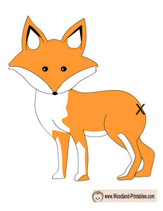 Pin the Tail on the Fox Game Printable