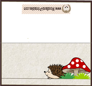 Cute Place Cards featuring Hedgehog