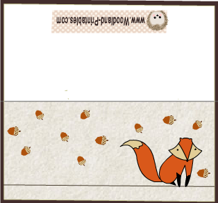Free Printable Place Cards featuring Fox