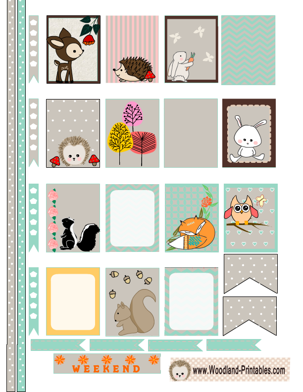 Free Printable Woodland Planner Stickers