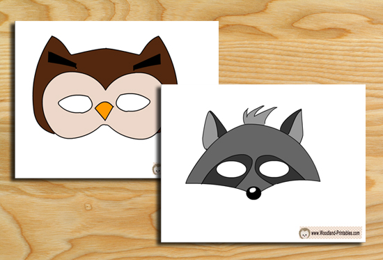Free Printable Woodland Animals Photobooth Props