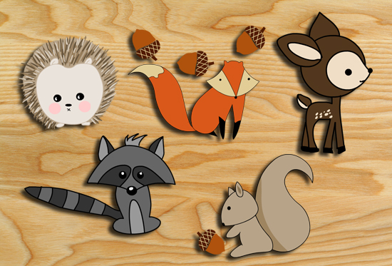 picture relating to Printable Woodland Animals identified as No cost Printable Woodland Pets Wall Stickers