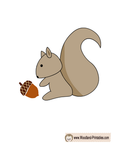 Free Printable Squirrel Wall Sticker