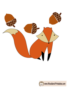 Free Printable Fox Sticker