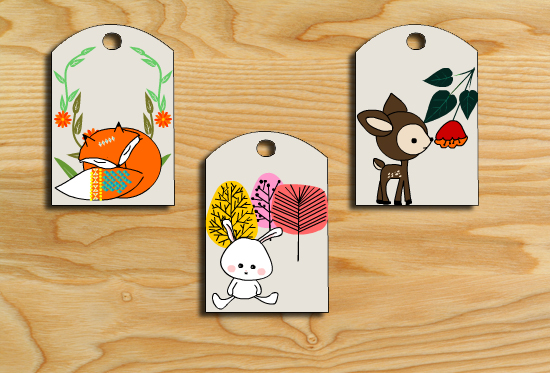 Free Printable Woodland Animals Gift Tags
