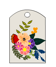 Floral Gift Tags to Print