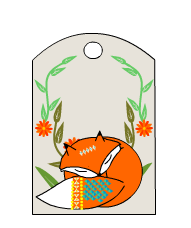 Free Printable Gift Tags featuring Fox