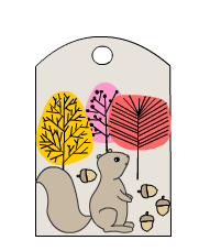 Cute Squirrel Gift Tags