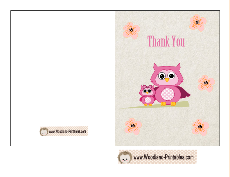 It is a picture of Persnickety Printable Baby Shower Thank You Cards