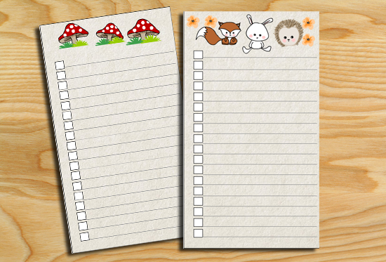 Free Printable Woodland Baby Shower To-Do Lists