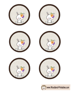 Free Printable Cupcake Toppers featuring Rabbit