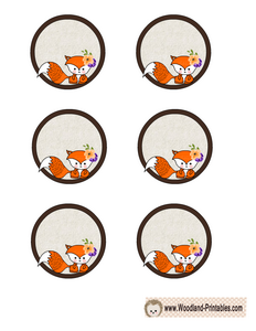Cute Free Printable Cupcake Toppers with Fox