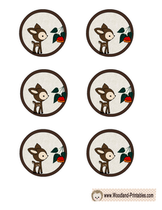 Cute Woodland Deer Cupcake Toppers