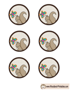 Free Printable Cupcake Toppers with Squirrel