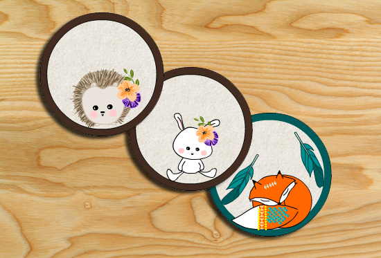 Free Printable Cute Woodland Creatures Cupcake Toppers