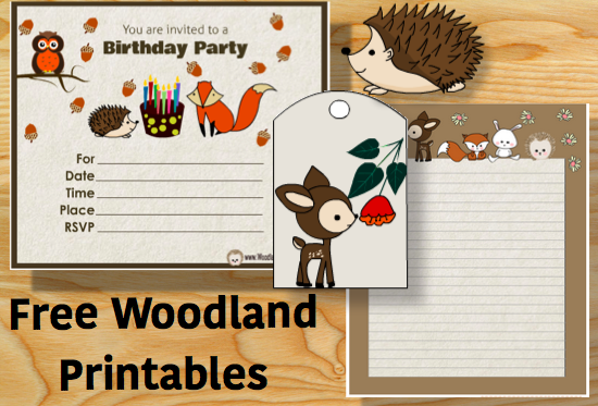 Free Cute Woodland Forest Printables and ClipArt
